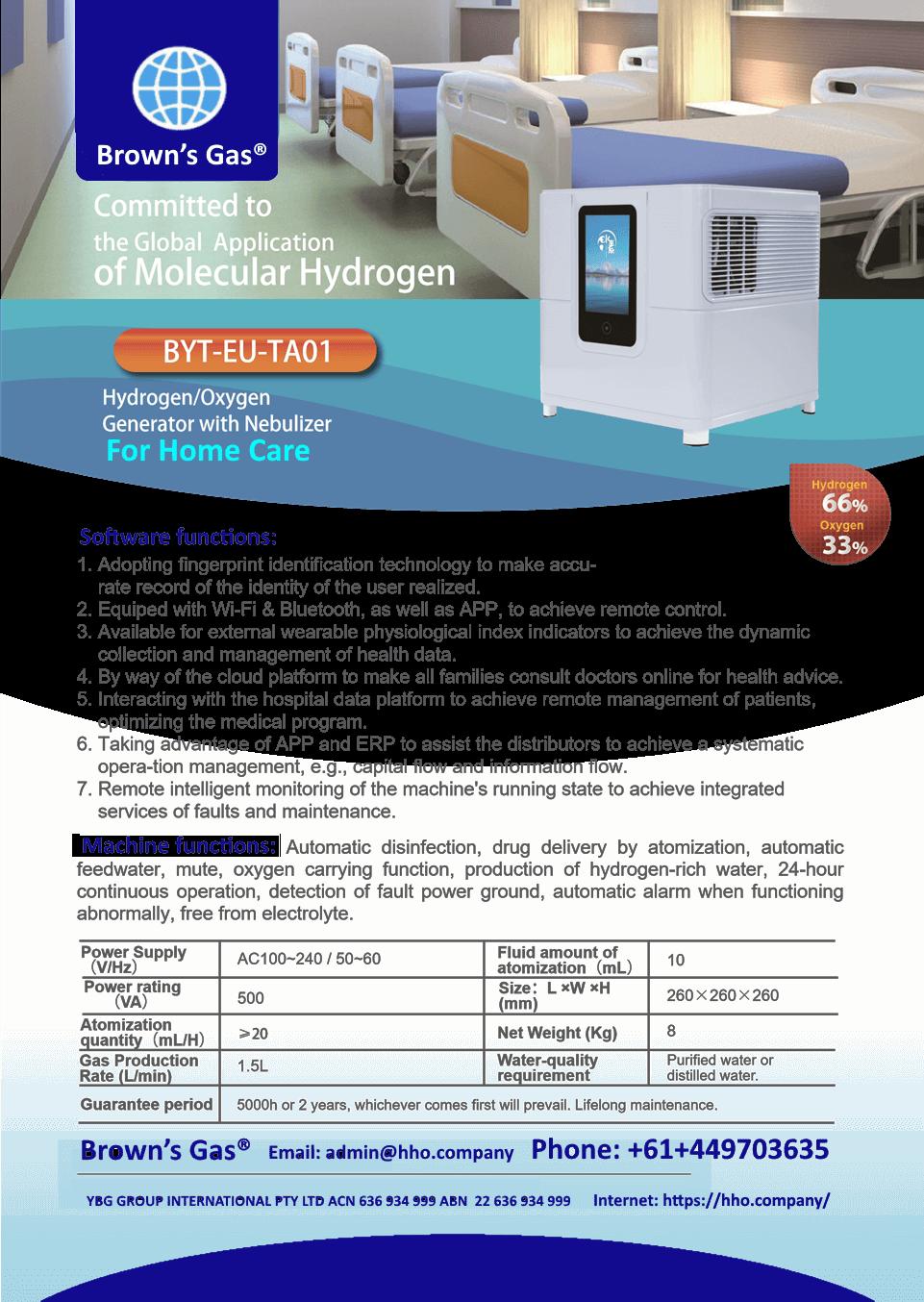 Home Care Oxygen Hydrogen Generator
